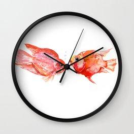 Parrot Cichlids Wall Clock