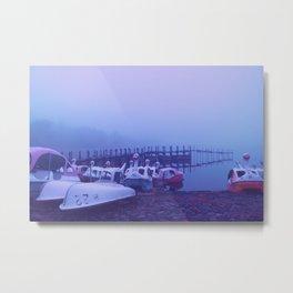 Misty Lake II Metal Print