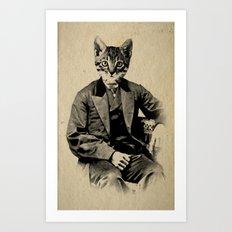 The Fancy Feline Art Print