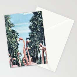 Palm Trees & Flamingos Stationery Cards