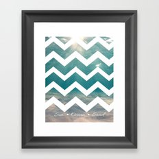 Summer Underwater Framed Art Print