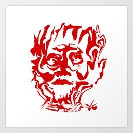 face5 red Art Print
