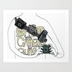 Shoot with cameras not guns Art Print