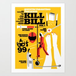 Quentin Tarantino - Kill Bill 1 Art Print