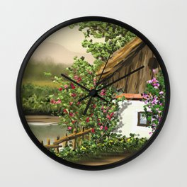 Hause at the river 8 Wall Clock