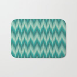 Bargello Pattern in Teal and Turquoise Bath Mat