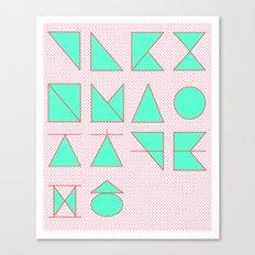 'ㄱ,ㄴ,ㄷ,ㄹ' (Korean Alphabet) Canvas Print