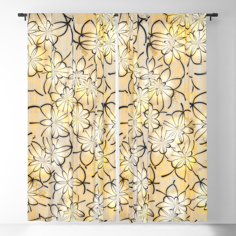 Vintage Floral Wallpaper 1b Blackout Curtain By Mehrfarbeimleben
