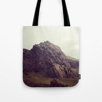 giants Tote Bags featuring Giants by Slug Draws
