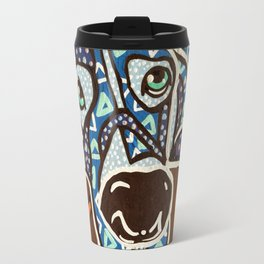Bobby Blue Eyes Designer Dog Series Puppy Pet Weimaraner Weimer Pointer Ghost Ridgeback Vizsla Hound Travel Mug