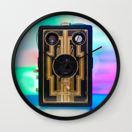 Vintage Art Deco Camera Wall Clock