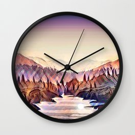 river in the valley Wall Clock