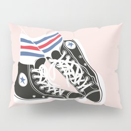 sneakers with socks Pillow Sham