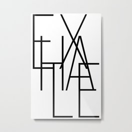 Inhale exhale (2 of 2) Metal Print