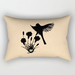 Ohio - State Papercut Print Rectangular Pillow