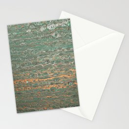 fluid coppered teal Stationery Cards