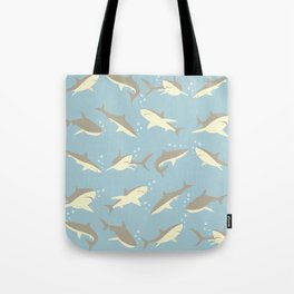 Many, Many Sharks Tote Bag