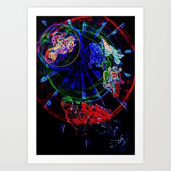 Abstract perfektion - Liberty Art Print