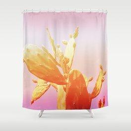 01_Fantasy#Cactus#retro#film#effect Shower Curtain
