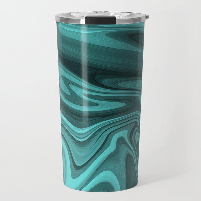 Teal Twirl Travel Mug