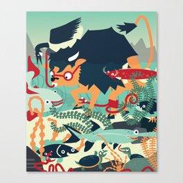 Under'Water Buffalo' Canvas Print