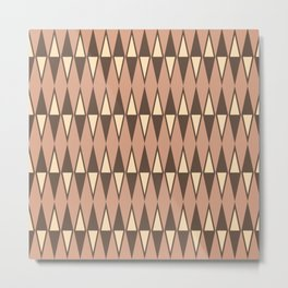 Mid Century Modern Diamond Pattern Netrals 232 Metal Print