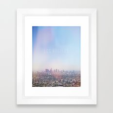 Los Angeles Skyline Typography  Framed Art Print