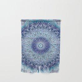 Frosted Lotus Mandala Blue Wall Hanging