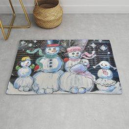 Snowman Family Rug