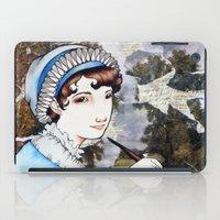 jane austen iPad Cases featuring Jane Austen by Makissima