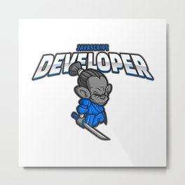 Awesome JavaScript Developer Metal Print