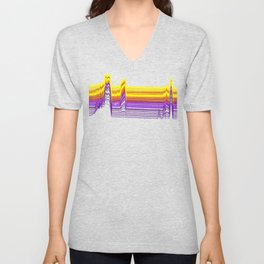 Fe Lines in Neon Colors Unisex V-Neck