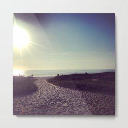 Sea Side Sunrise Metal Print