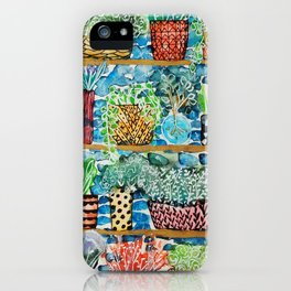 Pots and flowers collection iPhone Case