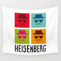 heisenberg Wall Tapestries featuring Heisenberg Popart by Nxolab
