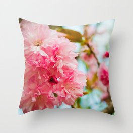 Pink Blooms (1) Throw Pillow