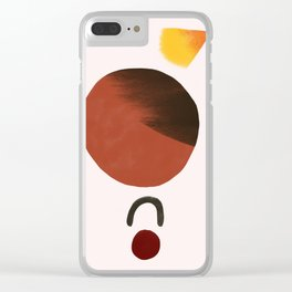 Red Planet Acrobat Clear iPhone Case