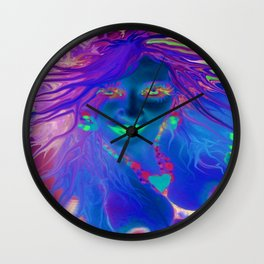Art,fairy wood nymph,Nude ladykashmir hot ,pink,yellow,i pod,lap top,t shirt,cups,tote ,bags, Wall Clock