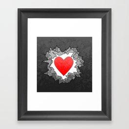 Break through to your heart Framed Art Print