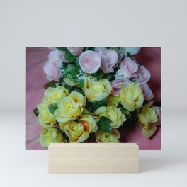 Pink and Yellow Roses Mini Art Print