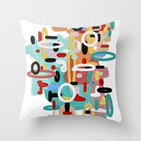 mid century Throw Pillows featuring Mid Century One by Tina Carroll