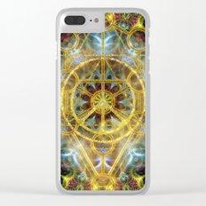 Sacred Geometry Fractal Mandala Clear iPhone Case