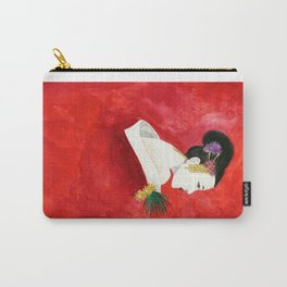 Red Wall Geisha Carry-All Pouch