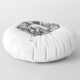 Left Brain Floor Pillow
