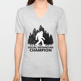 Stay at Home Order Social Distancing Champion Big Foot Unisex V-Neck