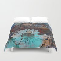 daisy Duvet Covers featuring Daisy by haroulita