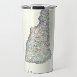 New Hampshire map Travel Mug