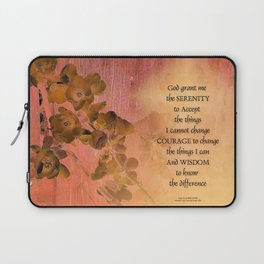 Serenity Prayer Quince and Fence One Laptop Sleeve