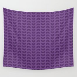 Royal Lilac Leaves Wall Tapestry