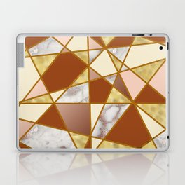 Geometric Pattern with Marble and Gold effect Laptop & iPad Skin
